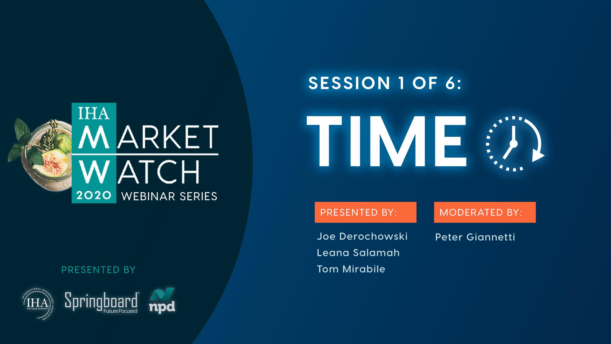 IHA Market Watch - Session 1 - Time